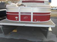 2014 Crest II 210 Pontoon with a Honda 90 engine. Boat