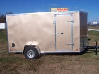 2014 Cross 6x12 enclosed trailer with arrow wedge