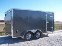 2014 Cross 7x14 enclosed trailer with arrow wedge
