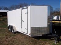 2014 Cross 7x16 enclosed trailer with arrow wedge