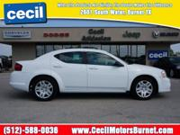 Body Style: Sedan Engine: Exterior Color: Bright White