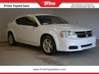 CARFAX One-Owner. 2014 Dodge Avenger SE in White, With