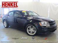 Options:  2014 Dodge Avenger Se|Black|A Real Head