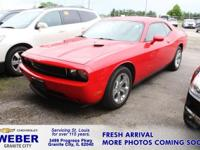 Recent Arrival! Red Dodge Challenger  Odometer is 11370