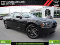 CARFAX One-Owner. Black 2014 Dodge Charger R/T AWD