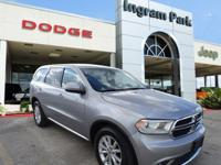 CarFax One Owner 2015 Dodge Durango SXT. This full size