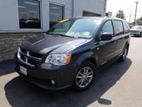 This 2014 Dodge Grand Caravan SXT in steel metallic