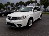 Clean CARFAX. White 2014 Dodge Journey SXT FWD 4-Speed