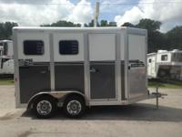 2014 Eclipse 2 horse straight load with a tack room