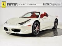 2014 Ferrari 458 Spider - FERRARI APPROVED - CERTIFIED