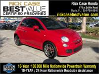2014 Fiat 500 Sport in Red. All the right ingredients!