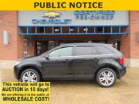 2014 Ford Edge Tuxedo Black Metallic Limited AWD 3.5L
