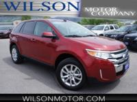 CARFAX One-Owner. Clean CARFAX. Ruby Red 2014 Ford Edge