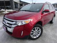 Options:  2014 Ford Edge Limited|Red|Clean Carfax.