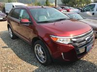 Clean CARFAX. Orange 2014 Ford Edge Limited 4D Sport