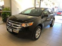 One-Owner. Clean CARFAX. Black 2014 Ford Edge SE AWD