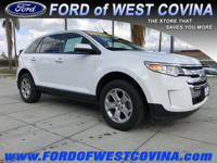 CARFAX One-Owner. Clean CARFAX. White 2014 Ford Edge