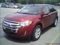 Gasoline! Red and Ready! 2014 Ford Edge SEL FWD.