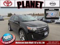 Recent Arrival! New Price! 2014 Ford Edge Sport Black