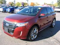 The Ford Edge is a mid sized SUV. Some specs are Front