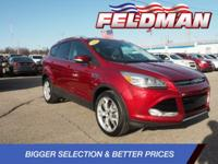 Clean CARFAX. Ford Escape 2014 Ruby Red Tinted