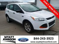 CARFAX One-Owner. White 2014 Ford Escape S FWD 6-Speed