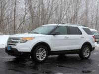 White 2014 Ford Explorer XLT AWD 6-Speed Automatic with