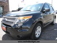 Clean CARFAX. Black 2014 Ford Explorer AWD 6-Speed