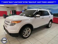 BACKUP CAM, LEATHER, NAVIGATION, SYNC, Explorer