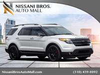 Clean CARFAX. White 2014 Ford Explorer Sport AWD