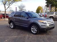Options:  2014 Ford Explorer Xlt|Gray|Carfax One-Owner.