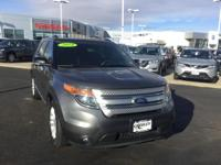 Gray 2014 Ford Explorer XLT AWD 6-Speed Automatic with