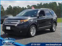 Black Clearcoat 2014 Ford Explorer XLT FWD 6-Speed