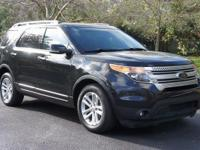BLACK/BLACK LEATHER 2014 Ford Explorer XLT in Car Depot