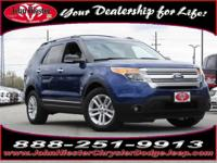 Options:  2014 Ford Explorer Xlt|Blue|3.39 Axle