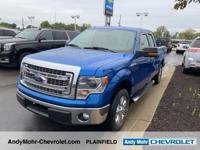 Blue 2014 Ford F-150 Super Cab 5.0L V8 FFV RWD   Come