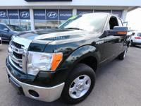 Clean CARFAX. Green Gem Metallic 2014 Ford F-150 XLT
