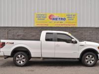 CARFAX One-Owner. White 2014 Ford F-150 FX4 Supercab!!!