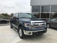 Blue 2014 Ford F-150 XLT 4WD 6-Speed Automatic