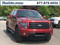 2014 Ford F-150 FX4 Vermillion Red Clean CARFAX. 4WD,