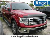 Red 2014 Ford F-150 Lariat RWD 6-Speed Automatic