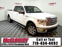 Luxurious Lariat F-150! 4X4, Super Crew, Leather, Power
