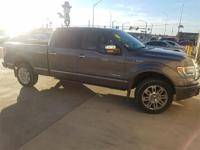 Recent Arrival! 2014 Ford F-150 Platinum Gray 4WD.
