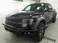Black 2014 Ford F-150 SVT Raptor 4WD 6-Speed Automatic