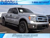 Clean CARFAX.   Silver 2014 Ford F-150 XLT 4WD 6-Speed