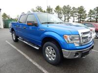 CARFAX One-Owner. Blue 2014 Ford F-150 XLT 4WD 6-Speed