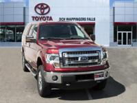 CARFAX One-Owner. Red 2014 Ford F-150 XLT 4WD 6-Speed