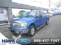 XLT trim, Blue Flame Metallic exterior and Steel Gray