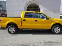 2014 Ford F-150 4x4 Bright Yellow 1-Owner 4dr V8 5.0L