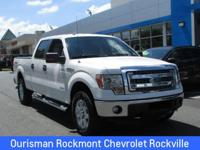 White 2014 Ford F-150 XLT 4WD, ABS brakes, Compass,
